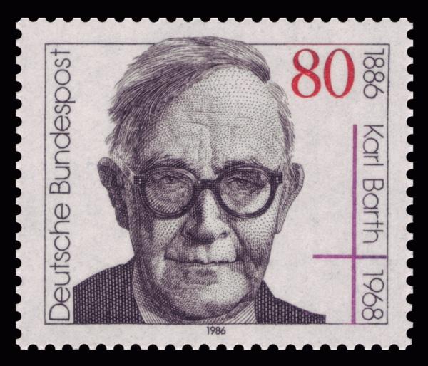 Karl Barth (*10.Mai 1886, †10.Dezember 1968), Quelle: Deutsche Bundespost, Lizenz: Public domain