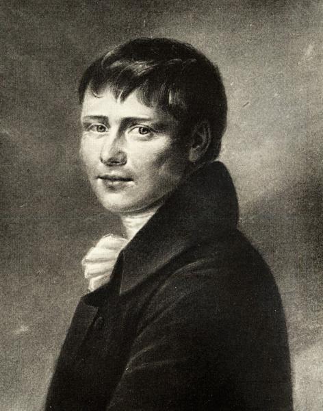 Heinrich von Kleist (*10.Oktober 1777, †21.November 1811), Quelle: scannd by Michael Schönitzer unknown, Lizenz: Public domain