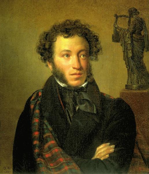 Alexander Sergejewitsch Puschkin (*06.Juni 1799, †10.Februar 1837), Quelle: Orest Adamowitsch Kiprenski, Lizenz: Public domain