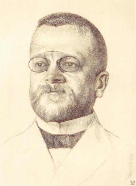 Fritz Schumacher (*04.November 1869, †05.November 1947), Quelle: Leopold von Kalckreuth (1855-1928), Lizenz: Public domain