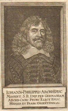Johann Philipp von Schönborn (*06.August 1605, †12.Februar 1673), Quelle: Zeitgenössischer Stecher, Lizenz: Public domain