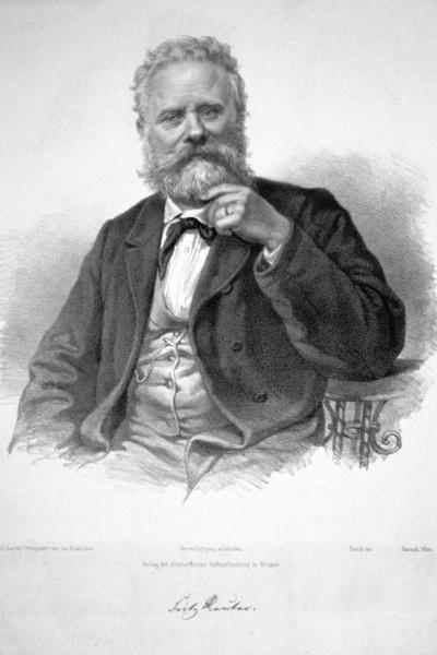 Fritz Reuter (*07.November 1810, †12.Juli 1874), Quelle: Josef Kriehuber, Lizenz: Public domain
