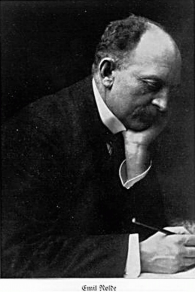 Emil Nolde (*07. August 1867, †13. April 1956), Quelle: Minya Diez-Dührkoop (* 21. Juni 1873; † 17. November 1929), deutsche Fotografin, Lizenz: Public domain