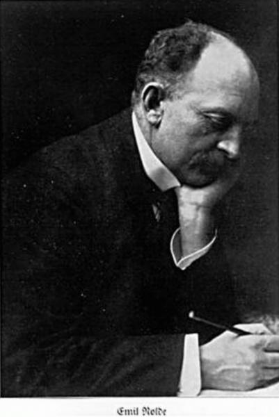 Emil Nolde (*07.August 1867, †13.April 1956), Quelle: Minya Diez-Dührkoop (* 21. Juni 1873; † 17. November 1929), deutsche Fotografin, Lizenz: Public domain