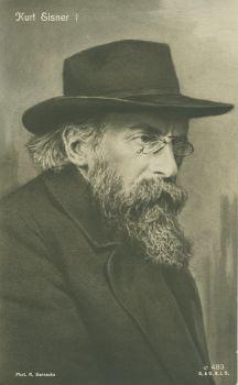 Kurt Eisner (*14.Mai 1867, †21.Februar 1919), Quelle: Robert Sennecke, Lizenz: Public domain