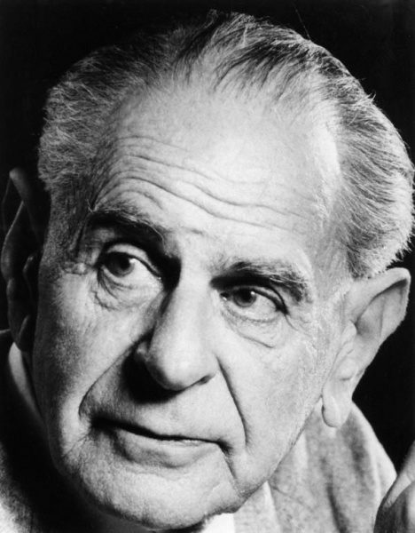Karl Popper (*28. Juli 1902, †17. September 1994), Quelle: LSE library, Lizenz: No restrictions