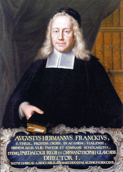 August Hermann Francke (*22.März 1663, †08.Juni 1727), Quelle: Unbekannt, Lizenz: Public domain