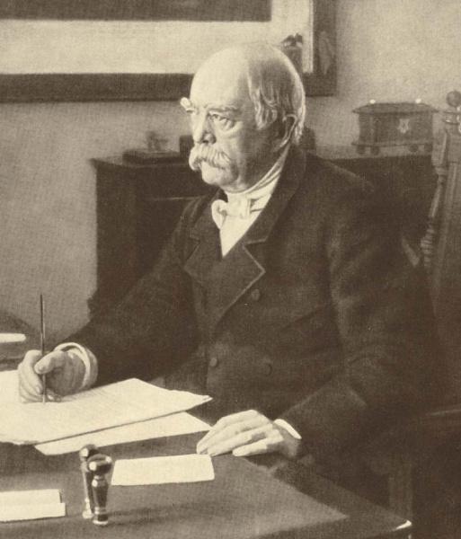 Otto von Bismarck (*01.April 1815, †30.Juli 1898), Lizenz: CC-BY-SA-3.0