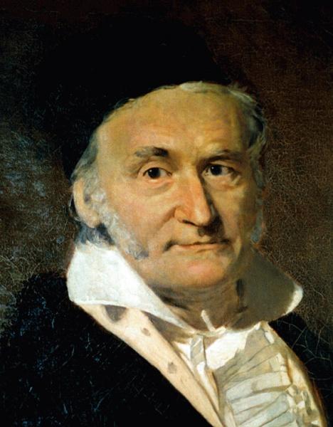 Carl Friedrich Gauß (*30.April 1777, †23.Februar 1855), Quelle: nach Christian Albrecht Jensen, Lizenz: Public domain