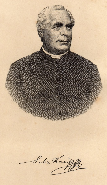 Sebastian Kneipp (*17.Mai 1821, †17.Juni 1897), Quelle: of book - Sebastian Kneipp, Lizenz: Public domain