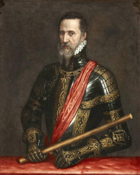 Fernando Álvarez de Toledo, Herzog von Alba (*29.Oktober 1507, †11.Dezember 1582), Quelle: Anthonis Mor, Lizenz: Public domain
