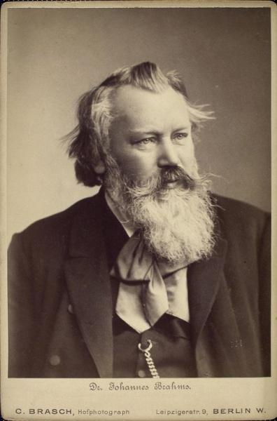 Johannes Brahms (*07.Mai 1833, †03.April 1897), Quelle: C. Brasch, Berlin, Lizenz: Public domain