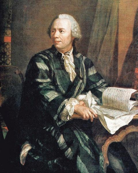 Leonhard Euler (*15.April 1707, †18.September 1783), Quelle: Jakob Emanuel Handmann, Lizenz: Public domain