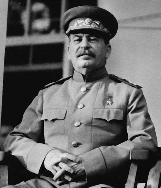 Josef Stalin (*18.Dezember 1878, †05.März 1953), Quelle: U.S. Signal Corps photo., Lizenz: Public domain