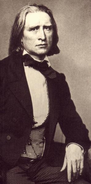 Franz Liszt (*22.Oktober 1811, †31.Juli 1886), Quelle: Franz Seraph Hanfstaengl, Lizenz: Public domain
