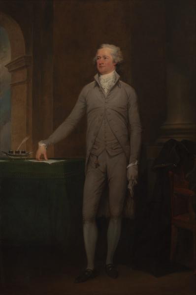 Alexander Hamilton (*11.Januar 1755, †12.Juli 1804), Quelle: John Trumbull, Lizenz: Public domain