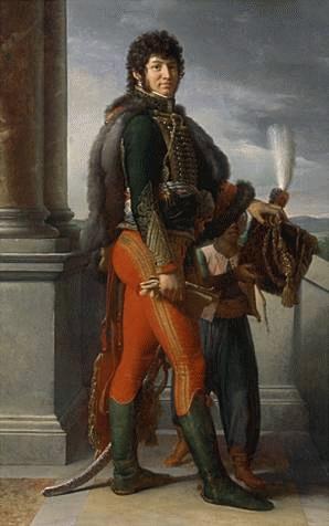 Joachim Murat (*25.März 1767, †13.Oktober 1815), Quelle: François Gérard, Lizenz: Public domain