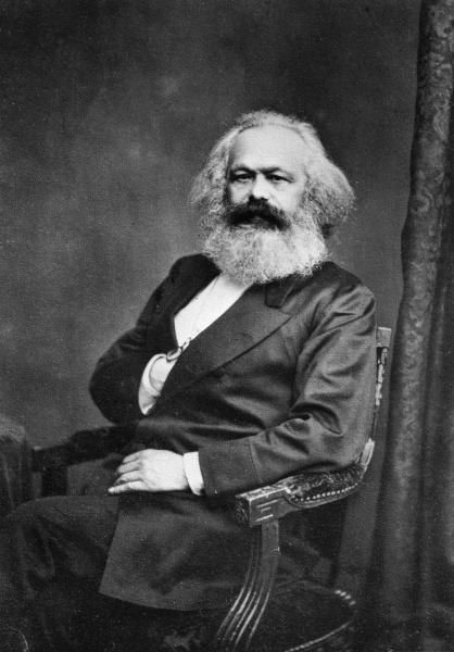Karl Marx (*05.Mai 1818, †14.März 1883), Quelle: John Jabez Edwin Mayall, Lizenz: Public domain
