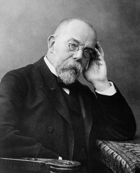 Robert Koch (*11.Dezember 1843, †27.Mai 1910), Quelle: Wilhelm Fechner, Lizenz: Public domain