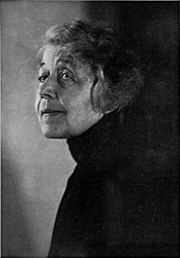 Ricarda Huch (*18.Juli 1864, †17.November 1947), Quelle: Fotograf/Zeichner: Wanda von Debschitz-Kunowski, Lizenz: Public domain