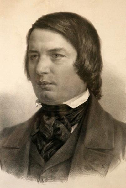 Robert Schumann (*08.Juni 1810, †29.Juli 1856), Quelle: Adolph von Menzel, Lizenz: Public domain