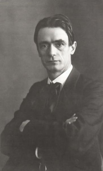 Rudolf Steiner (*27.Februar 1861, †30.März 1925), Lizenz: Public domain