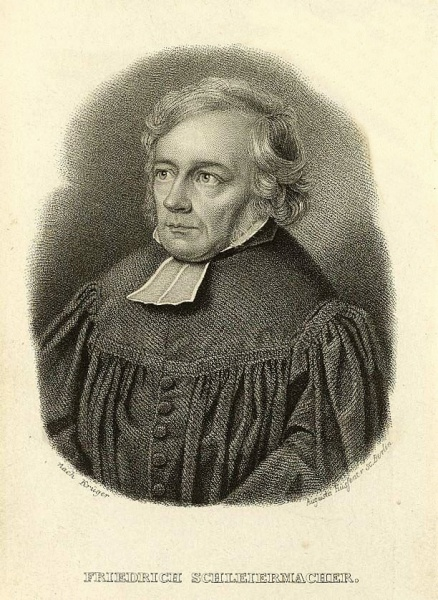 Friedrich Schleiermacher (*21.November 1768, †12.Februar 1834), Lizenz: Public domain