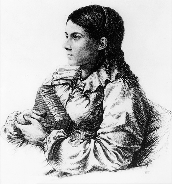 Bettina von Arnim (*04. April 1785, †20. Januar 1859), Quelle: Ludwig Emil Grimm, † 4. April 1863, Lizenz: Public domain