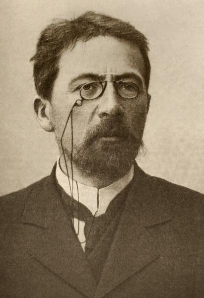 Anton Pawlowitsch Tschechow (*29.Januar 1860, †15.Juli 1904), Quelle: Unbekannt, Lizenz: Public domain