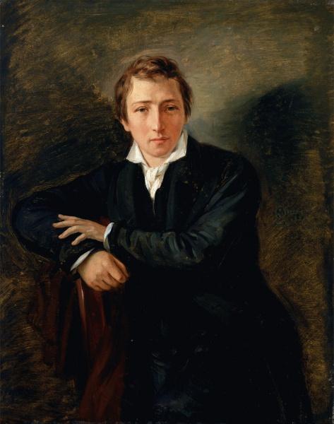 Heinrich Heine (*13.Dezember 1797, †17.Februar 1856), Quelle: Moritz Daniel Oppenheim, Lizenz: Public domain