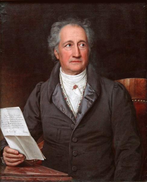 Johann Wolfgang von Goethe (*28.August 1749, †22.März 1832), Quelle: Joseph Karl Stieler, Lizenz: Public domain